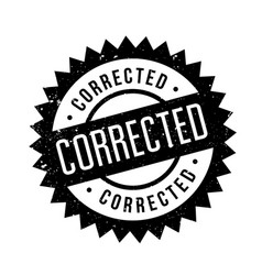 Corrected rubber stamp vector