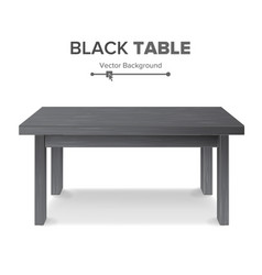 dark empty square table platform isolated vector image