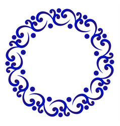 decorative round vector image