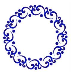 Decorative round vector