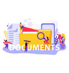 documents flat text composition vector image