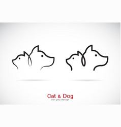 Dog and cat design on white background petshop vector