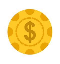Dollar chip vector