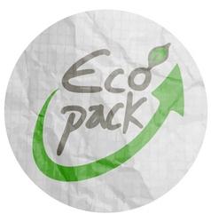 Eco pack symbol vector
