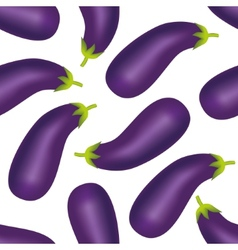 Eggplant seamless pattern vector