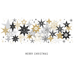 Elegant merry christmas background banner and vector