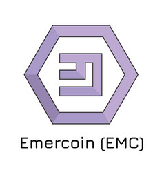 Emercoin emc crypto coin i vector