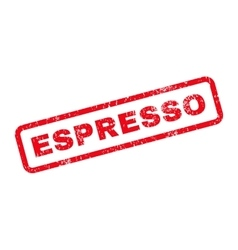 Espresso Text Rubber Stamp vector image