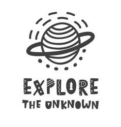 explore the unknown scandinavian poster vector image