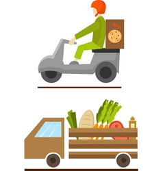 fast food street van icon image vector image