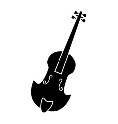 Fiddle classical music instrument pictogram vector