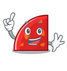 finger quadrant mascot cartoon style vector image