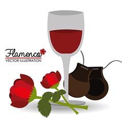 Flamenco design vector image