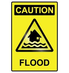 Flood hazard Sign vector
