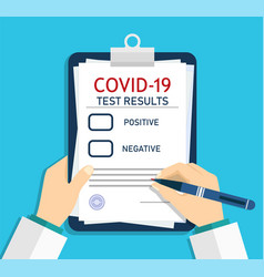 form covid19 report medical checklist vector image