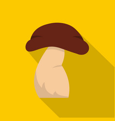 Good mushroom icon flat style vector