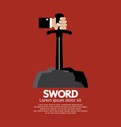 Hand Getting The Sword vector image