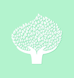 Hand tree concept for nature care vector