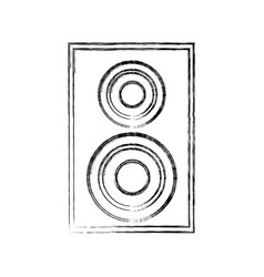 Home theater speaker icon vector