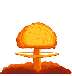 Illstration nuke bomb explosion isolated vector