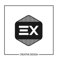 Initial letter ex logo template design vector