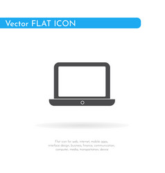 laptop icon for web business finance and vector image