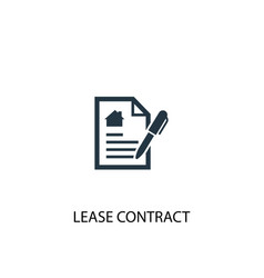 Lease contract icon simple element vector