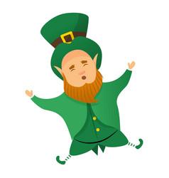 leprechaun patrick icon cartoon style vector image