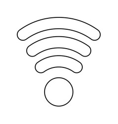 Line wifi symbol icon design vector