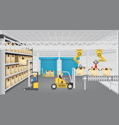 Manufacture and warehouse vector