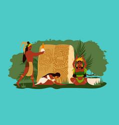 Maya flat vector