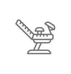 Medical gynecological chair pregnancy line icon vector