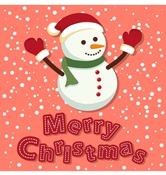 Merry Christmas Snowman vector image