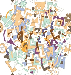 mess pattern vector image