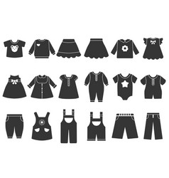 monochrome children vector image