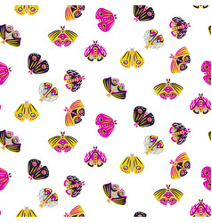 Moth seamless pattern vector