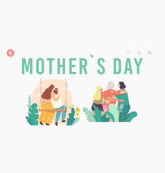 mothers day landing page template loving mother vector image