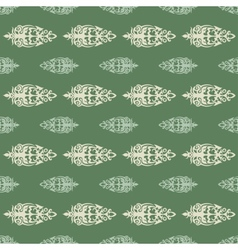 pattern in the old style with curls vector image