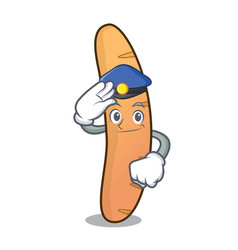 Police baguette character cartoon style vector