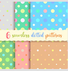 polka dots seamless patterns vector image
