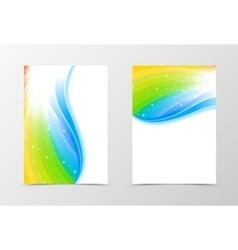 Rainbow flyer template design vector