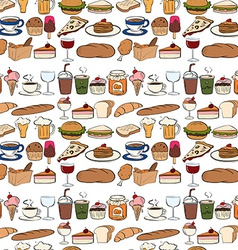 Seamles food vector image