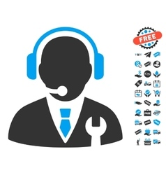 Service Manager Icon With Free Bonus vector