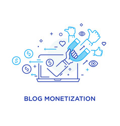 shake hands blog monetisation virtual vector image