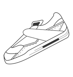 Single sneaker icon vector