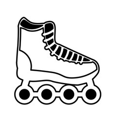 skate online isolated icon vector image