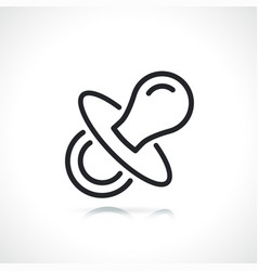 Soother or pacifier line icon vector