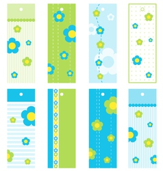 Spring Floral bookmarks vector