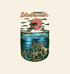 summer underwater vector image