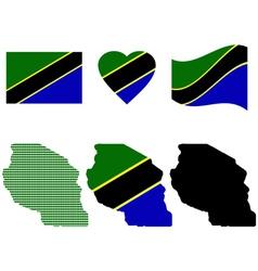 Tanzania map vector
